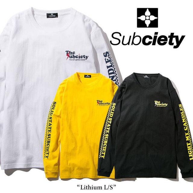 SUBCIETY(サブサエティ) Lithium L/S 【2018SPRING先行予約】 【キャンセル不可】 【SUBCIETY Tシャツ】【104-44215】