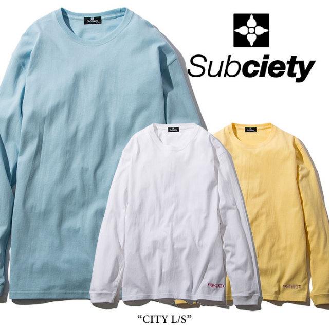 SUBCIETY(サブサエティ) CITY L/S 【2018SPRING先行予約】 【キャンセル不可】 【SUBCIETY Tシャツ】【104-44216】