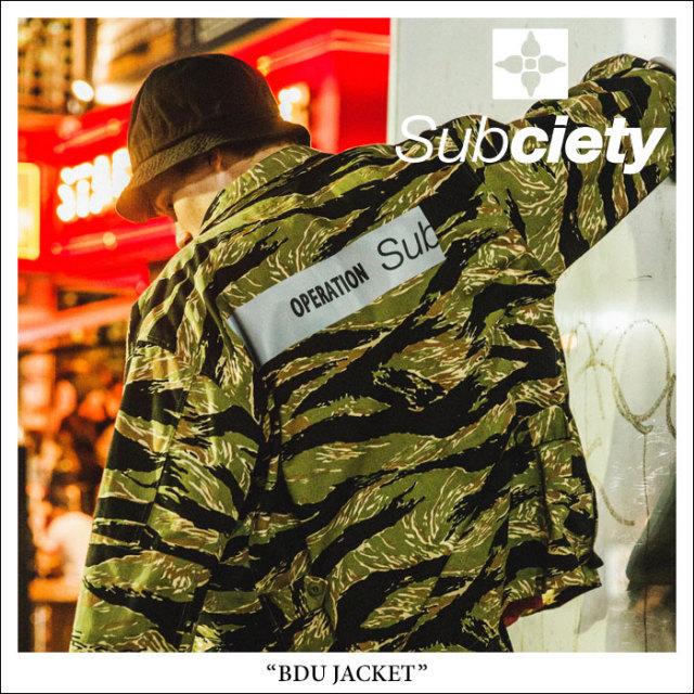 SUBCIETY(サブサエティ) BDU JACKET 【2018SPRING先行予約】 【送料無料】【キャンセル不可】 【SUBCIETY アウター】【104-62194