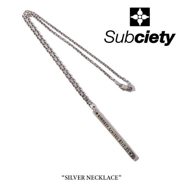 SUBCIETY(サブサエティ) SILVER NECKLACE 【2018SPRING先行予約】 【送料無料】【キャンセル不可】 【104-94248】