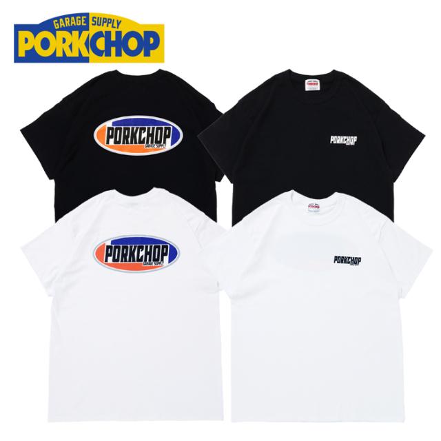 PORKCHOP GARAGE SUPPLY(ポークチョップ ガレージサプライ) 2nd Oval TEE 【プリント Tシャツ 半袖】