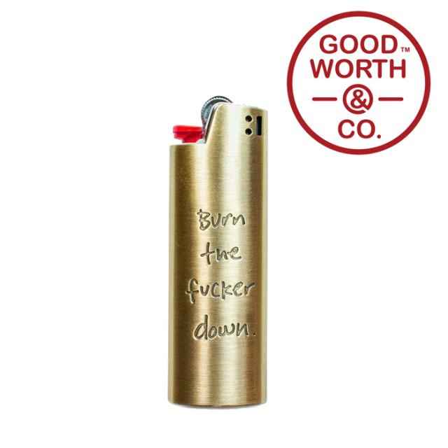 GOOD WORTH (グッドワース) & CO.   BURN IT LIGHTER CASE -LARGE 【ライターケース】