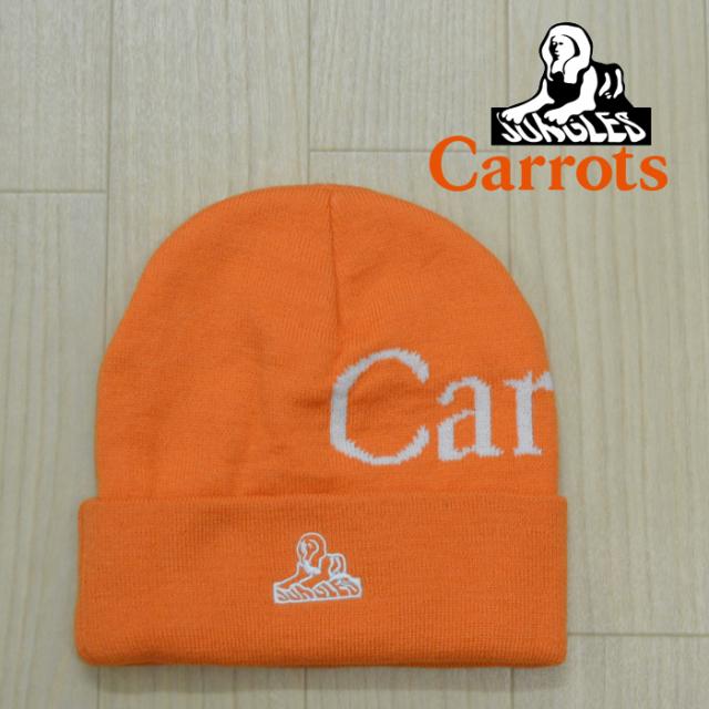 "CARROTS(キャロッツ) LOGO BEANIE 【ビーニー ニット帽】【ロゴ シンプル おしゃれ】【""Carrots"" -by Anwar Carrots-】【2019】"