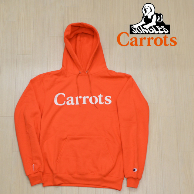 """CARROTS(キャロッツ) LOGO HOODIE 【パーカー フーディー】【ロゴ 定番 おしゃれ】【""""Carrots"""" -by Anwar Carrots-】 【CJ-LGHD】"""