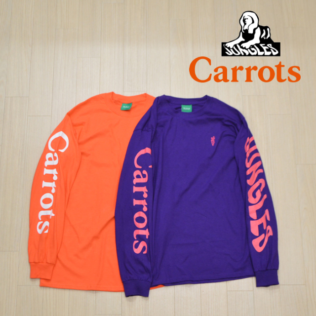 """CARROTS(キャロッツ) LOGO LONGSLEEVE 【ロングスリーブTシャツ ロンT 長袖】【ロゴ シンプル おしゃれ】 【""""Carrots"""" -by Anwar"""