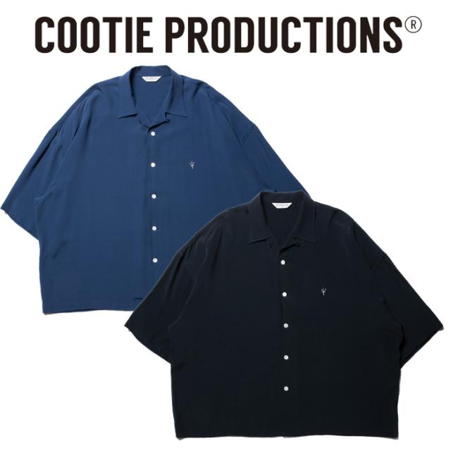 COOTIE(クーティー)  Rayon Open-Neck S/S Shirt 【レーヨンシャツ 半袖】【送料無料】【CTE-20S405】