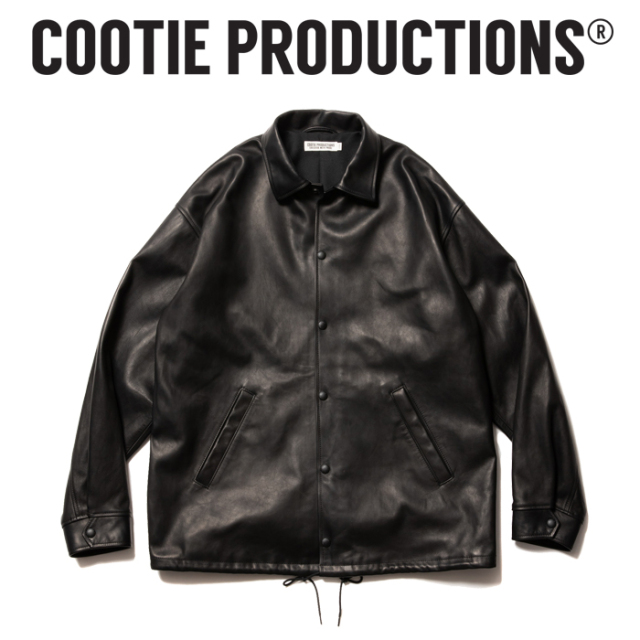COOTIE (クーティー)  Leather Coach Jacket  【レザーコーチジャケット レザージャケット】【COOTIE PRODUCTIONS クーティープロ