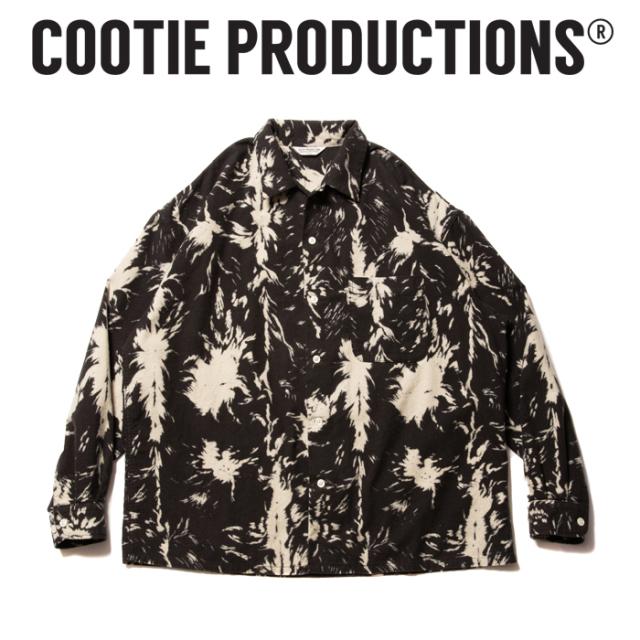 COOTIE (クーティー)  Wolf Print Nel Open Collar Shirt  【ネルシャツ オープンカラーシャツ】【COOTIE PRODUCTIONS クーティー