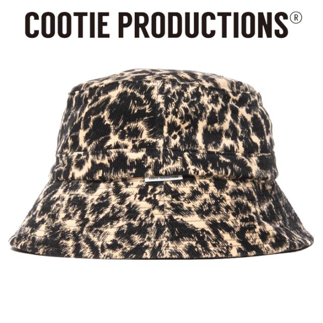 COOTIE(クーティー)  Corduroy Leopard Bucket Hat  【キャップ 帽子】【CTE-20A509】