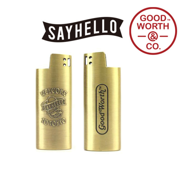 GOOD WORTH(グッドワース) & CO.×SAY HELLO WELCOME LIGHTER CASE -SMALL (×SAY HELLO) 【ライターケース】
