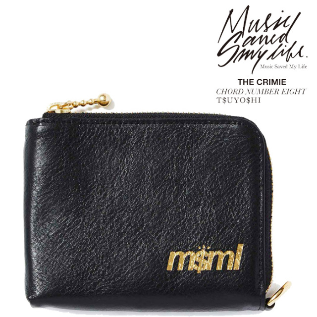 MSML(MUSIC SAVED MY LIFE) ZIP LEATHER WALLET 【2019SPRING/SUMMER新作】 【ウォレット】【M1K1T-AC02】