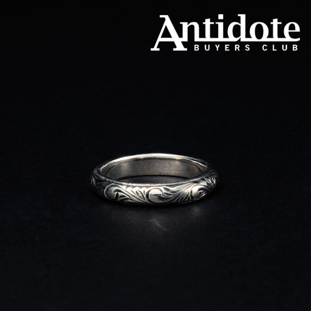 ANTIDOTE BUYERS CLUB(アンチドートバイヤーズクラブ) Engraved Round Ring 【RX-704-1】【シルバー SILVER 950】【リング 指輪】