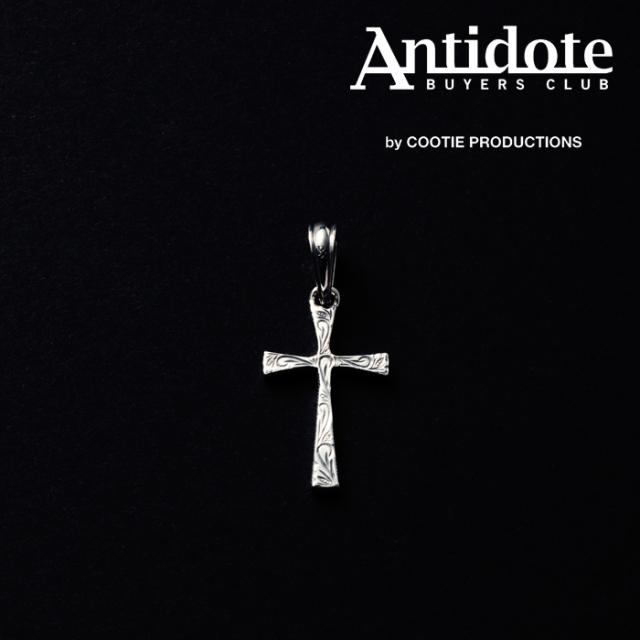 ANTIDOTE BUYERS CLUB(アンチドートバイヤーズクラブ) Engraved Tiny Cross Pendant 【RX-909-S】【クロス ペンダントトップ】【送