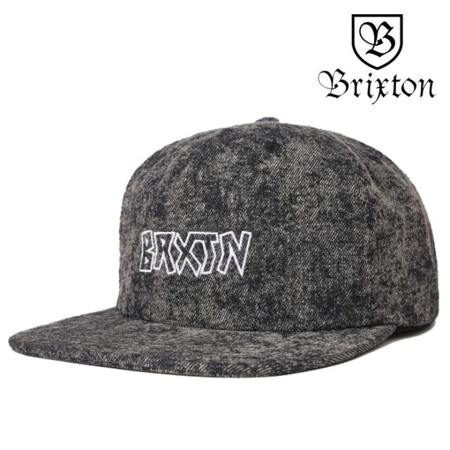 BRIXTON(ブリクストン) SIMMONS MP SNAPBACK CAP(BLACK ACID WASH) 【2019SPRING/SUMMER新作】 【キャップ 帽子】