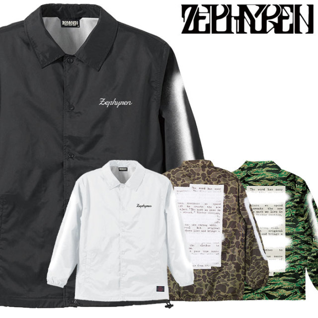 ZEPHYREN(ゼファレン) COACH JACKET  -PLEDGE- 【2018AUTUMN/WINTER先行予約】 【キャンセル不可】【Z18AA10】