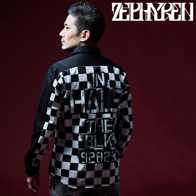 ZEPHYREN(ゼファレン) EMBLEM SHIRT L/S 【2018AUTUMN/WINTER先行予約】 【キャンセル不可】【Z18AD01】