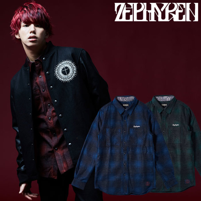 ZEPHYREN(ゼファレン) CHECK SHIRT L/S -Resolve-  【2018AUTUMN/WINTER先行予約】 【キャンセル不可】【Z18AD05】