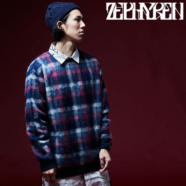 ZEPHYREN(ゼファレン) BIG CHECK KNIT 【2018AUTUMN/WINTER先行予約】 【キャンセル不可】【Z18AE15】