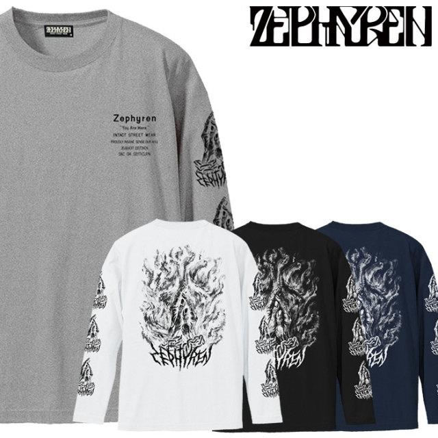 ZEPHYREN(ゼファレン)  L/S TEE -PRAYING HANDS- 【2018AUTUMN/WINTER先行予約】 【キャンセル不可】【Z18AM09】