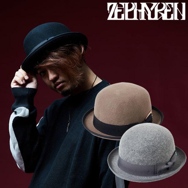 ZEPHYREN(ゼファレン) FELT BOWLER HAT 【2018AUTUMN/WINTER先行予約】 【キャンセル不可】【Z18AT10】