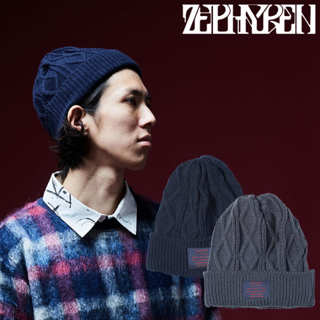 ZEPHYREN(ゼファレン) CABLE KNIT Beanie -You Are Here  【2018AUTUMN/WINTER先行予約】 【キャンセル不可】【Z18AU07】