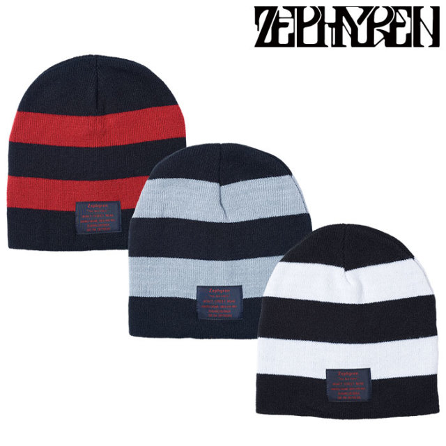 ZEPHYREN(ゼファレン) BORDER KNIT Beanie -You Are Here  【2018AUTUMN/WINTER先行予約】 【キャンセル不可】【Z18AU08】