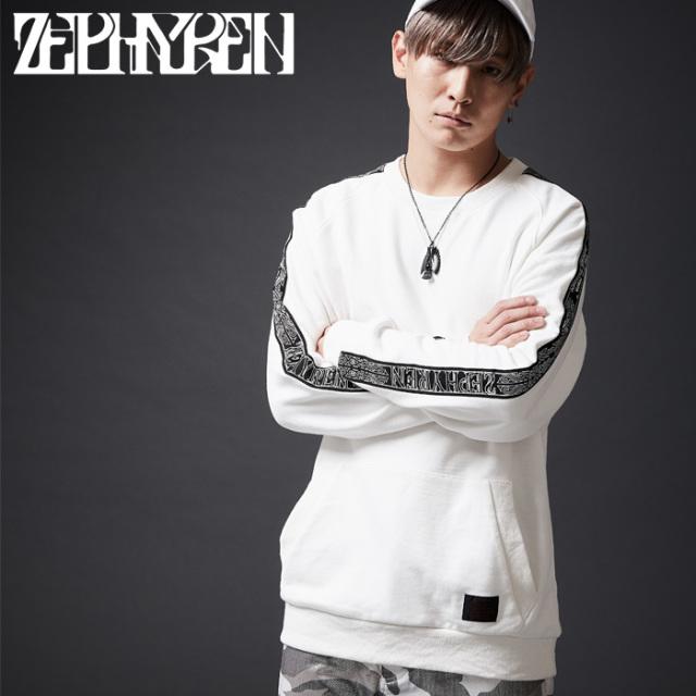 ZEPHYREN(ゼファレン)  TAPE SWEAT 【2019SPRING/SUMMER新作】 【スウェット】【Z18AO21】