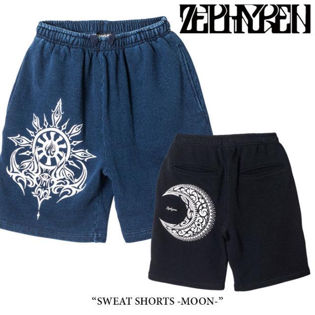 ZEPHYREN(ゼファレン) SWEAT SHORTS -MOON- 【2018SPRING/SUMMER先行予約】 【送料無料】【キャンセル不可】 【Z18PP01】