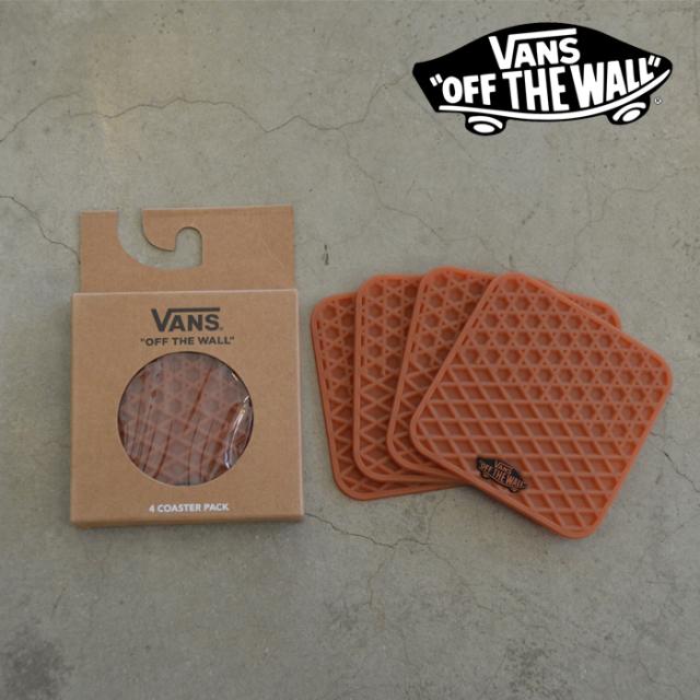 VANS(バンズ)(ヴァンズ) COASTER PACK(4枚入り) 【コースター】【ワッフル ラバー】【おしゃれ インテリア キッチン】【VN0A45F3RB