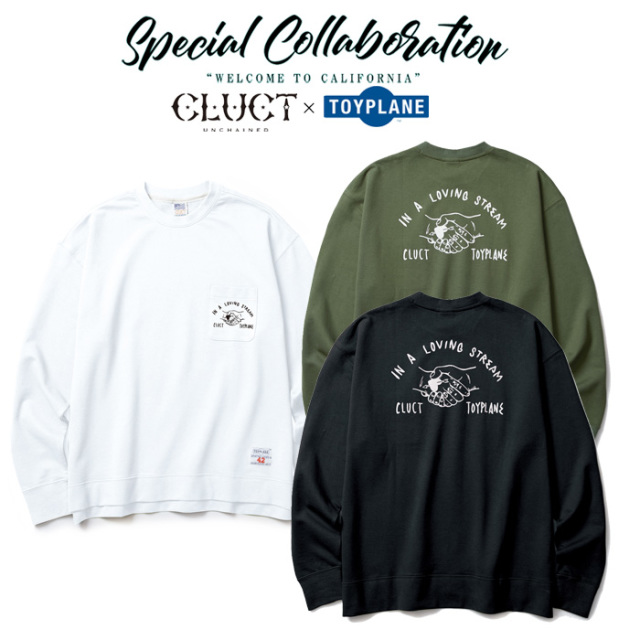 CLUCT(クラクト)×TOYPLANE(トイプレーン) LOOSE FIT LIGHT SWEAT 【SPECIAL COLLABORATION】 【コラボ スウェット】【#02867】