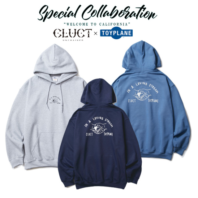 CLUCT(クラクト)×TOYPLANE(トイプレーン) SHAKEHAND HOODSWEAT 【SPECIAL COLLABORATION】 【コラボ パーカー】【#02869】