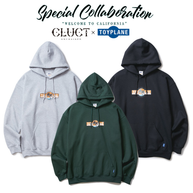 CLUCT(クラクト)×TOYPLANE(トイプレーン) LOGO HOOD SWEAT 【SPECIAL COLLABORATION】【コラボ パーカー】【#02869】
