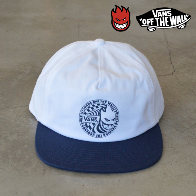 VANS(バンズ)(ヴァンズ)×SPIT FIRE(スピットファイアー) SHALLOW UNSTRUCTURED HAT 【キャップ 帽子】【コラボレーション】【SPIT