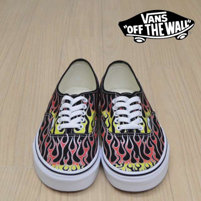 【VANS(バンズ)】 AUTHENTIC (VANS MASH UP)FLAMES BLACK 【VANS スニーカー】【オーセンティック】【VN0A38EMVKJ】