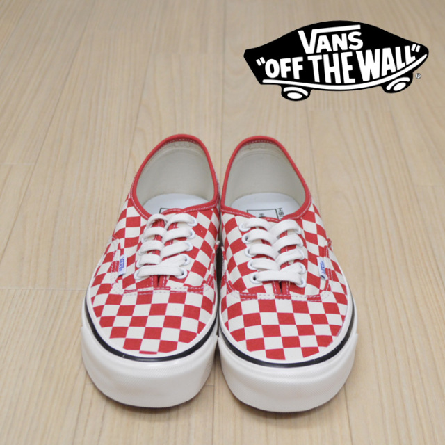 【VANS(バンズ)】 AUTHENTIC 44 DX (ANAHEIM FACTORY)OG RED 【VANS スニーカー】【オーセンティック】【VN0A38ENVL1】