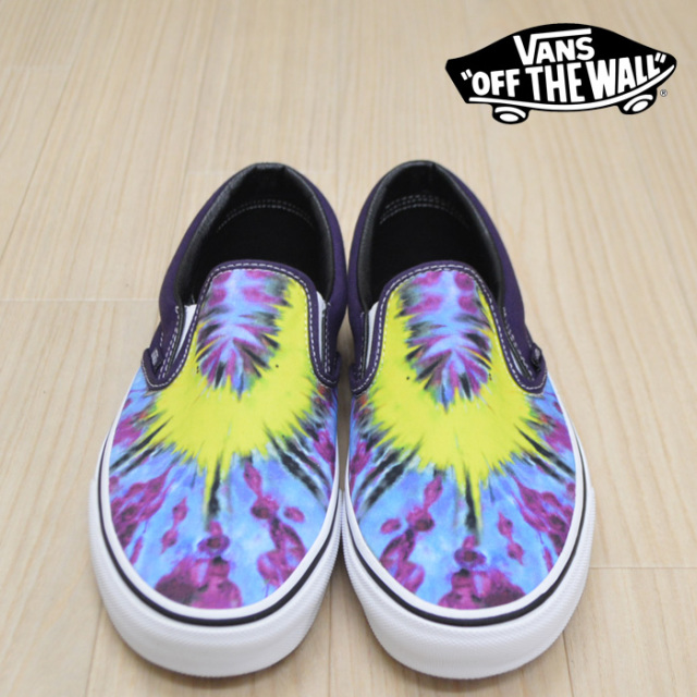 【VANS(バンズ)】 CLASSIC SLIP-ON (TIE DYE) MYSTERIOSO/TRUE WHITE 【VANS スニーカー】【スリッポン】【VN0A38F7VMO】