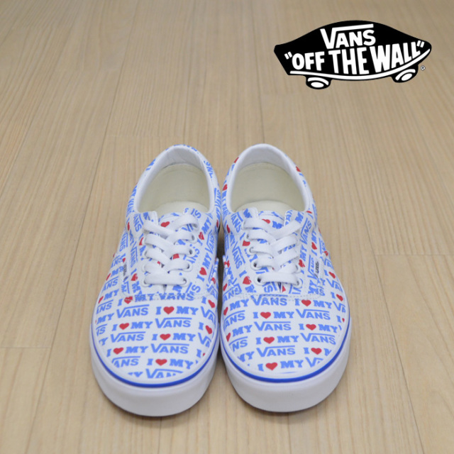 【VANS(バンズ)】 ERA (I HEART VANS)TRUE WHITE 【VANS スニーカー】【エラ】【VN0A38FRVP5】