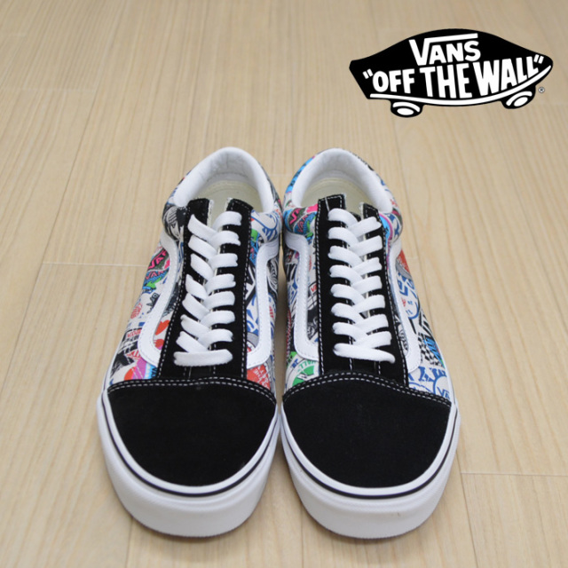【VANS(バンズ)】 OLD SKOOL (VANS MASH UP) STICKERS/TRUE WHITE 【VANS スニーカー】【オールドスクール】【VN0A38G1VFV】