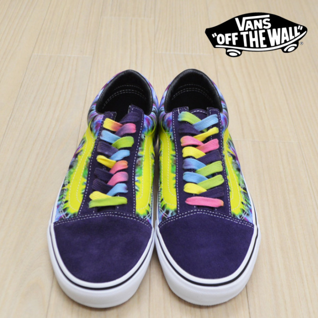 【VANS(バンズ)】 OLD SKOOL (TIE DYE) MYSTERIOSO/TRUE WHITE 【VANS スニーカー】【オールドスクール】【VN0A38G1VMO】