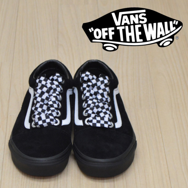 【VANS(バンズ)】 OLD SKOOL (CHECK LACE)BLACK/BLACK 【VANS スニーカー】【オールドスクール】【VN0A38G1VR1】
