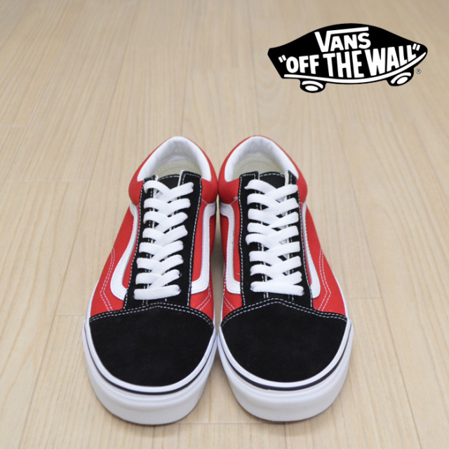 【VANS(バンズ)】 OLD SKOOL (OTW SIDEWALL)BLACK/RACI 【VANS スニーカー】【オールドスクール】【VN0A38G1VRH】