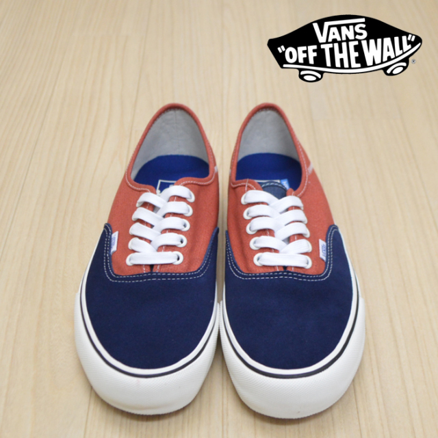 VANS(バンズ)(ヴァンズ) AUTHENTIC SF (TWO TONE SALT WASH) DRESS BLUES/BURNT BRICK 【VANS スニーカー】【オーセンティック】