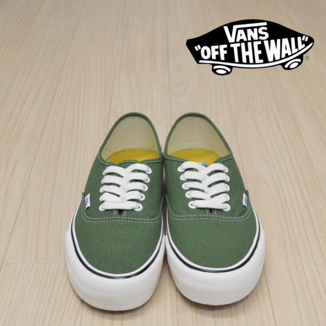 【VANS(バンズ)】 AUTHENTIC SF  (SALT WASH) /Garden Green 【VANS スニーカー】【オーセンティック】【VN0A3MU6VL9】