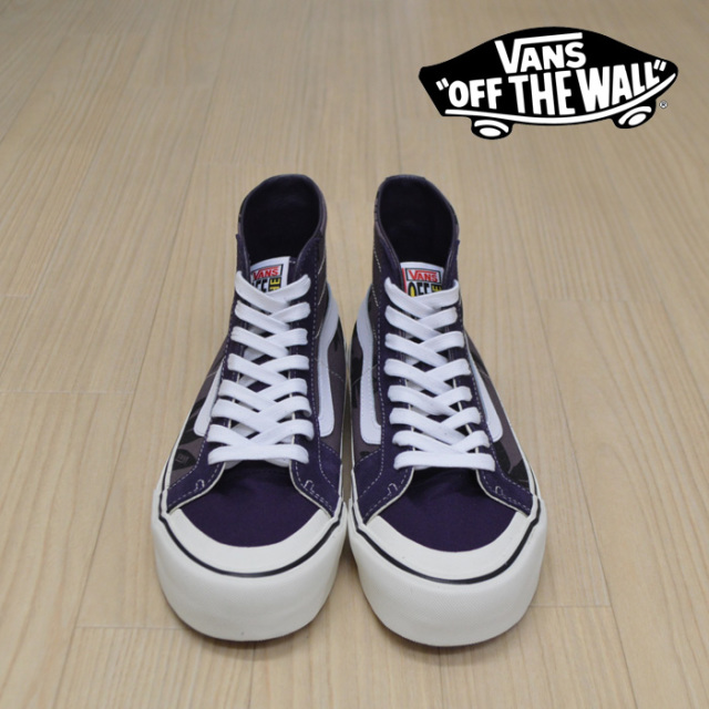 【VANS(バンズ)】 SK8-HI 138 DECON SF (SUMMER LEAF) BLACK PLUM/MYSTERIOSO 【VANS スニーカー】【スケハイ】【VN0A3MV1VSD】