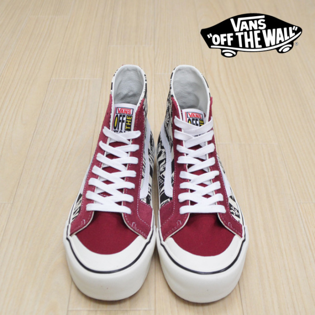 【VANS(バンズ)】 SK8-HI 138 DECON SF  (YUSUKE HANAI) RUMBA RED/MARSHMALLOW 【VANS スニーカー】【スケハイ】 【花井祐介】【