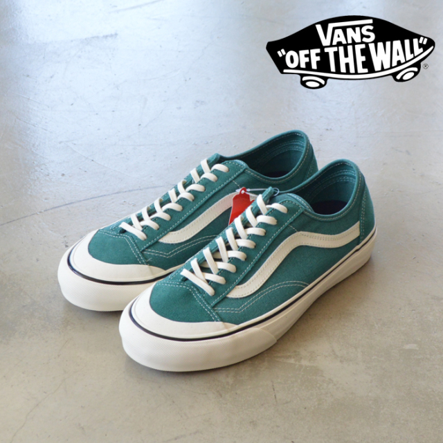 VANS(バンズ) STYLE 36 DECON SF (SALT WASH)DEEP JUNGLE/MARSHMALLOW 【VANS スニーカー】【スタイル36】【VN0A3MVLWOP】