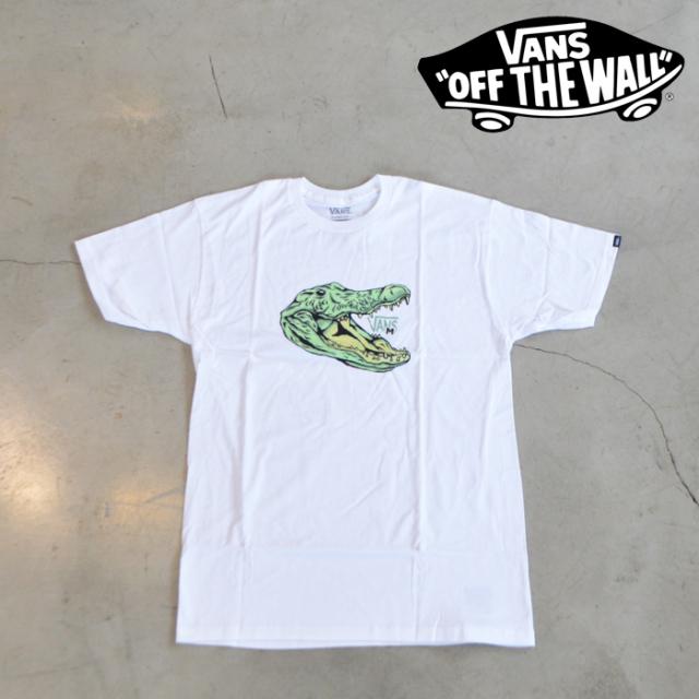 VANS(バンズ)(ヴァンズ) MICRO DAZED CROC T-SHIRT 【Tシャツ】【VN0A4VKLWHT1】