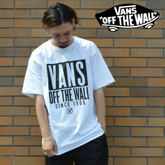 VANS バンズ ヴァンズ   TYPE STACK OFF THE WALL SS TEE  【Tシャツ ロゴ プリント 半袖】【VN0A5E77】【インタープレイ INTERPLA