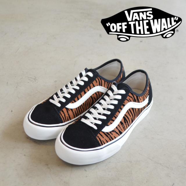 VANS バンズ ヴァンズ スポーツ  Style 36 Decon Sf (Animal Stripes) Black/Marshmallow  【定番 おしゃれ シンプル  スニーカー