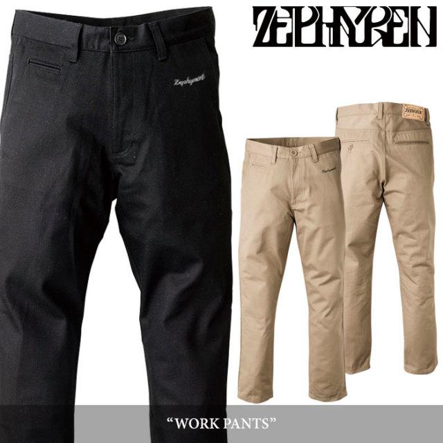 ZEPHYREN(ゼファレン) WORK PANTS 【2018SUMMER先行予約】 【送料無料】【キャンセル不可】 【Z16UQ05】
